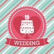 Wedding design  — Stock Vector