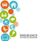 Insurance design — Stock Vector