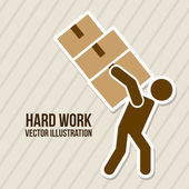 Hard work — Stock Vector