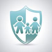 Family shield — Stock Vector
