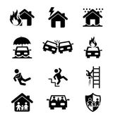 Insurance icons — Stock Vector