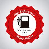 Etiqueta engomada del combustible — Vector de stock