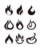 Flames icon — Stock Vector