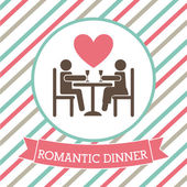 Romantic dinner — Stok Vektör
