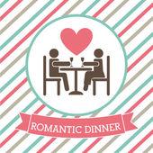 Romantik bir akşam yemeği — Stok Vektör