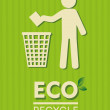 Stock Vector: Eco recycle