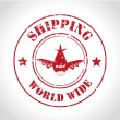 Shipping world wide — Imagen vectorial