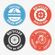 Cycling labels — Stockvectorbeeld