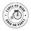 I love my bike — Stock Vector #29328273