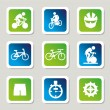 Stock Vector: Cycling icons