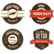Retro labels  — Stock Vector