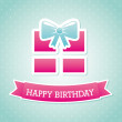 Stock Vector: Birthday gift