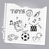 игрушки дизайн — Cтоковый вектор