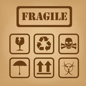 Fragile design — Stock Vector