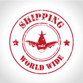 Shipping world wide — Stock Vector