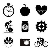 Spinning icons — Stock Vector