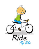 Ride my bike — Stock Vector