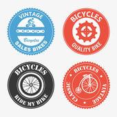 étiquettes de cyclisme — Vecteur