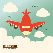 Airplane design — Stock Vector