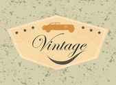 Car vintage — Vetorial Stock