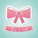 Baby girl — Stock Vector #29330437