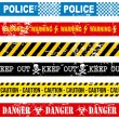 Caution tape — Stock Vector