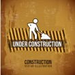 Under,construction design — Stock Vector