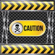 Caution — Vector de stock
