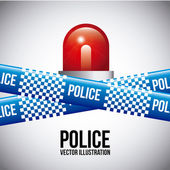 Police tapes — Stock Vector