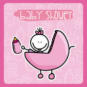 Babby shower — Stock Vector