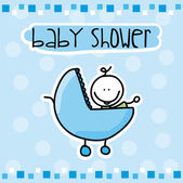 Babby shower — Stock Vector