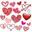 Hearts icons — Stock Vector #29526927