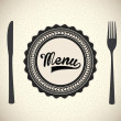Stock Vector: Menu