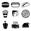 Food icons — Stock Vector #29584011