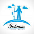 Fishman — Stock Vector