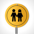 Stock Vector: Couple signal