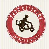 Food delivery — Stok Vektör