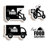 Delivery food — Stock Vector