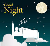 Good night design — Stock Vector