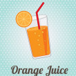 Stock Vector: Orange juice