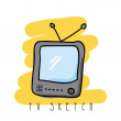 Stock Vector: Video game sketch