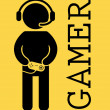 Gamer — Stock Vector