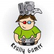 Really gamer — Stock Vector