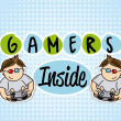 Stock Vector: Gamers inside