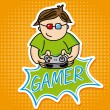Gamer design — Stock Vector