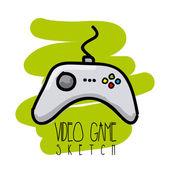 Video game sketch — Stock Vector