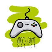 Video game sketch — Stock Vector