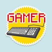 Gamer — Stock Vector