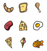 Nutritional icons — Stock Vector