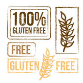 100 percent free gluten — Stock Vector